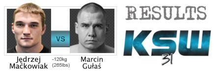 KSW31: Maćkowiak zatrzymuje Gułasia w pierwszej rundzie