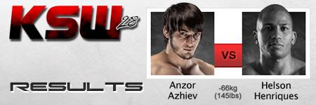 KSW 28: Anzor Azhiev wygrywa decyzją z Henriquesem