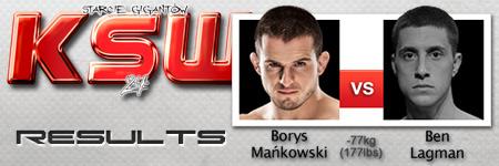 KSW24: Borys Mañkowski vs Ben Lagman