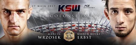 KSW39: Kleber Koike Erbst odebrał pas mistrzowski Marcinowi Wrzoskowi