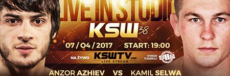 KSW38: Anzor Azhiev zwyciężył starcie z Kamilem Selwą