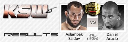 KSW25: Aslambek Saidov vs Daniel Acacio