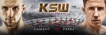 Mateusz Gamrot vs Norman Parke oficjalnie na KSW Colosseum