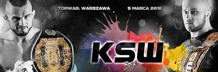 Bilety na KSW 34, 5 marca w Warszawie w sprzedaży, Mańkowski i Narkun bronią tytułów