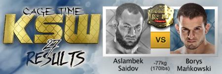 KSW27: Aslambek Saidov vs Borys Mañkowski