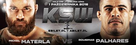 Rousimar Palhares rywalem Materli w walce wieczoru KSW 36