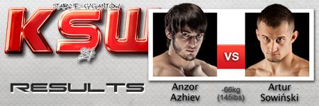 KSW24: Anzor Azhiev vs Artur Sowiński