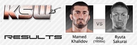 KSW25: Mamed Khalidov vs Ryuta Sakurai