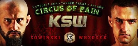 Sowiński vs Wrzosek o pas, Jewtuszko, Chlewicki, Wolański w karcie walk KSW 37