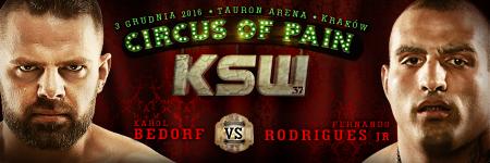 Karol Bedorf vs Fernando Rodrigues Jr headlines KSW 37