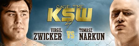 KSW27 - Cage Time: Virgil Zwicker versus Tomasz Narkun!