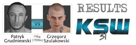 KSW31: Szulakowski ponownie lepszy od Grudniewskiego