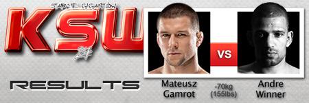 KSW24: Mateusz Gamrot vs Andre Winner