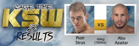 KSW27: Piotr Strus vs Abu Azaitar