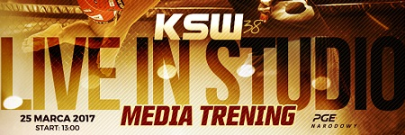 Media trening przed KSW 38: Live in Studio na Forum MMA
