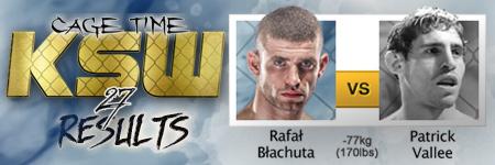 KSW27: Rafa³ B³achuta vs Patrick Vallee