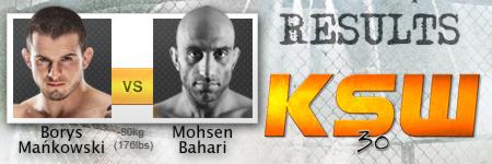 KSW 30: Mańkowski wygrywa z Baharim w walce wieczoru