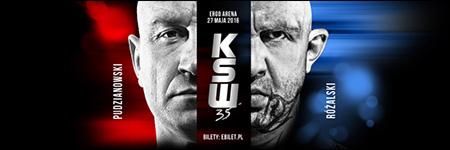 """KSW35: Marcin Różalski zmusił """"Pudziana"""" do poddania"""