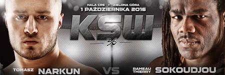 KSW36: Tomasz Narkun zdemolował Sokoudjou i obronił mistrzowski pas