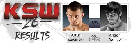 KSW26: Artur Sowiñski vs Anzor Azhiev