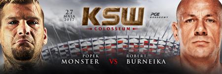 """KSW39: """"Popek Monster"""" brutalnie rozprawił się z Robertem Burneiką"""