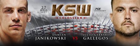 Julio Gallegos rywalem Damiana Janikowskiego na KSW 39: Colosseum