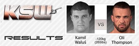 KSW25: Kamil Waluś vs Oli Thompson