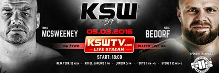 KSW34: Karol Bedorf w mistrzowskim stylu znokautowa³ McSweeneya