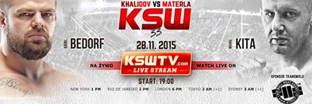 KSW 33: Karol Bedorf znokautował Kitę