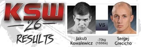 KSW26: Jakub Kowalewicz vs Sergej Grecicho