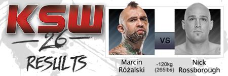 KSW26: Marcin Ró¿alski vs Nick Rossborough