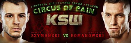 KSW37: Roman Szymański po świetnej walce poddał Romanowskiego