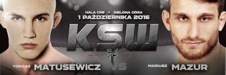 Matusewicz vs Mazur – Zielona G�ra kontra Leszno na KSW 36