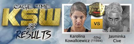 KSW27: Karolina Kowalkiewicz vs Jasminka Cive