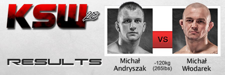 KSW 28: Michał Włodarek pokonał Michała Andryszaka w 27 sekund