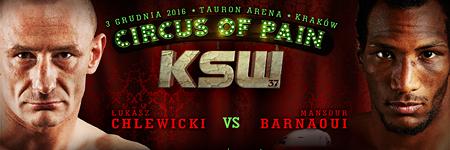 KSW37: Masnsour Barnaoui już w pierwszej rundzie pokonał Łukasza Chlewickiego