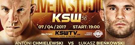 KSW38: Łukasz Bieńkowski pokonał na punkty Antoniego Chmielewskiego
