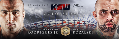 Fernando Rodrigues Jr vs Marcin Różalski official for KSW Stadium event