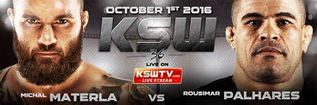 Materla vs Palhares, Narkun vs Sokoudjou headline KSW 36 on October 1st