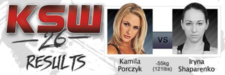 KSW26: Kamila Porczyk vs Iryna Shaparenko