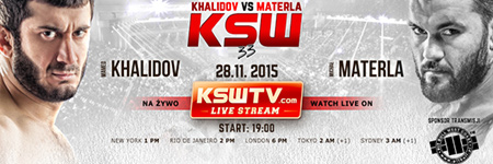 KSW 33: Khalidov wygrywa w 31 sekund