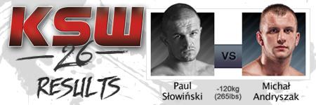 KSW26: Paul S³owiñski vs Micha³ Andryszak