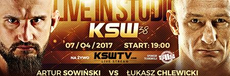 KSW38: Artur Sowiński szybko i efektownie poddał Łukasza Chlewickiego