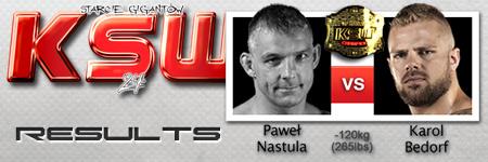 KSW24: Paweł Nastula vs Karol Bedorf
