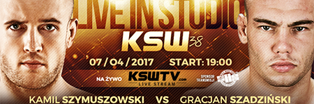 KSW38: Kamil Szymuszowski pokonał Gracjana Szadzińskiego