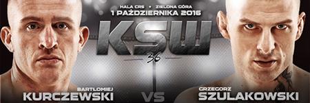 KSW36: Grzegorz Szulakowski pokonał Bartłomieja Kurczewskiego