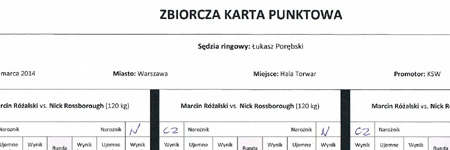 KSW26: karty sędziowskie