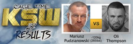 KSW27: Mariusz Pudzianowski vs Oli Thompson