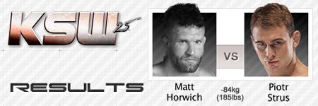 KSW25: Matt Horwich vs Piotr Strus