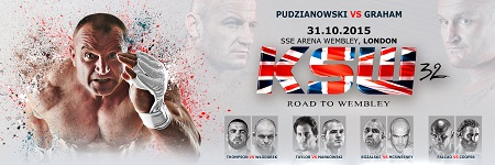 Pudzianowski vs Graham headlines KSW 32: Road to Wembley